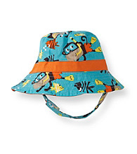 Carter's® Baby Boys' Blue/Orange Monkey Swim Hat
