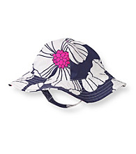 Carter's® Baby Girls' Navy/White Printed Poplin Sunhat