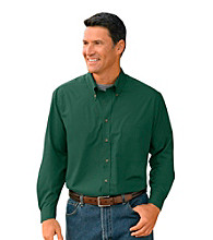 Harbor Bay® Men's Big & Tall Easy-Care Solid Sport Shirt