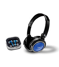 Coby® Jammerz Digital Stereo Headphones with Bonus Earphones & Carrying Case