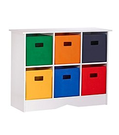 RiverRidge® Kids White Cabinet with 6 Bright Bins