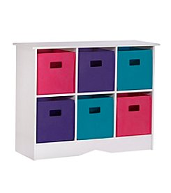 RiverRidge® Kids White Cabinet  with 6 Pastel Bins