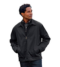 Synrgy Men's Big & Tall Black Basic Bomber Jacket