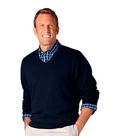 Oak Hill® Men's Big & Tall Solid V-Neck Sweater