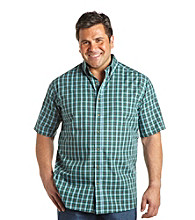 Harbor Bay® Men's Big & Tall 'Easy-Care' Short Sleeve Medium Plaid Woven