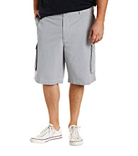 True Nation™ Men's Big & Tall Blue Striped Cargo Short