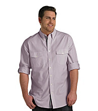 True Nation® Men's Big & Tall Oxford Roll-Sleeve Woven