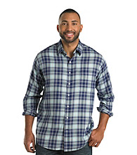 True Nation™ Men's Multi Navy Long Sleeve Plaid Sport Shirt