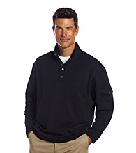 Oak Hill® Men's Deep Midnight Mockneck Pullover