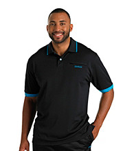 Reebok® Men's Big & Tall Play Dry® Black Classic Tipped Polo