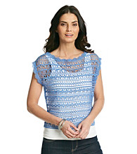 Skye's The Limit® All Over Lace Knit Top