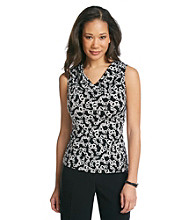 Evan-Picone® Printed Tank Top