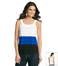 AGB® Tiered Colorblock Top