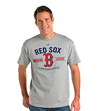 Majestic Men's Big & Tall MLB Red Sox Bee Line Heather Tee