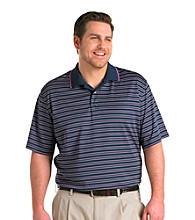 Reebok® Men's Big & Tall Play Dry® Navy Stripe Golf Polo