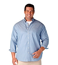Oak Hill® Men's Big & Tall Continuous Comfort Long Sleeve Bengal Stripe Woven