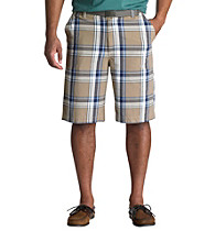 True Nation™ Men's Big & Tall Brown/Cream Plaid Short