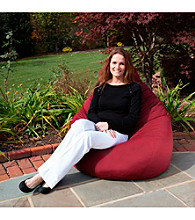 Gold Medal Solid Outdoor Weather Resistant Tear Drop Bean Bag
