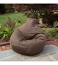 Gold Medal Texture Outdoor Weather Resistant Tear Drop Bean Bag