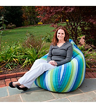 Gold Medal Seville Seaside Outdoor Weather Resistant Tear Drop Bean Bag