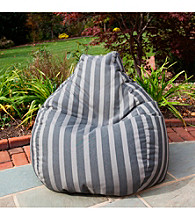 Gold Medal Parkway Carbon Outdoor Weather Resistant Tear Drop Bean Bag