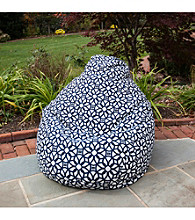 Gold Medal Luxe Indigo Outdoor Weather Resistant Tear Drop Bean Bag