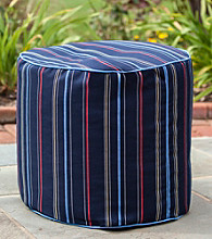 Gold Medal Timeline Nautical Outdoor Weather Resistant Ottoman