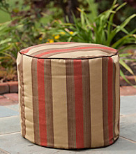 Gold Medal Zenith Brick Outdoor Weather Resistant Ottoman
