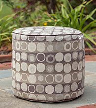 Gold Medal Mankala Dusk Outdoor Weather Resistant Ottoman