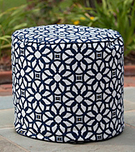 Gold Medal Luxe Indigo Outdoor Weather Resistant Ottoman