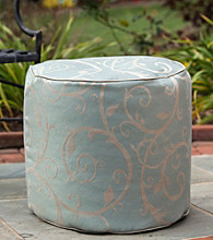 Gold Medal Cabaret Blue Haze Outdoor Weather Resistant Ottoman