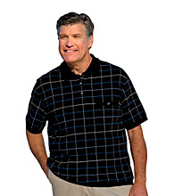 Harbor Bay® Men's Big & Tall Black Short Sleeve Bottom-Banded Polo