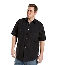 Synrgy Men's Big & Tall Short Sleeve Contrast Officers Military Pilot Shirt