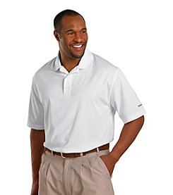 Reebok® Men's Big & Tall Play Dry® White Short Sleeve Solid Golf Polo