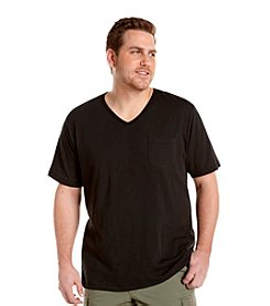 True Nation™ Men's Big & Tall Short Sleeve V-Neck Slub Pocket Tee