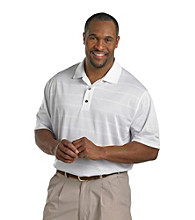 Reebok® Men's Big & Tall White Play Dry® Short Sleeve Golf Polo