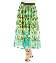 Ruby Rd.® Stretch Waistband Allover Print Long Skirt