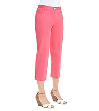 Ruby Rd.® Side Elastic Solid Capri Pants