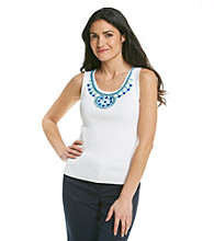 Ruby Rd. Sleeveless Embellished Tank