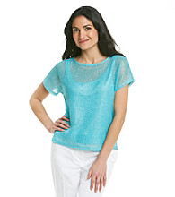 Ruby Rd.® Open Weave Shimmer Top