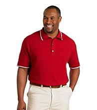Oak Hill® Men's Big & Tall Rio Red Short Sleeve Tipped Polo