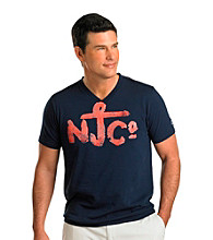 Nautica Jeans Co. Men's Big & Tall Navy Short Sleeve V-Neck