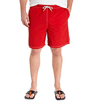 Nautica® Men's Big & Tall Racer Red Full Elastic Solid Swim Trunk