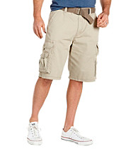 Lee® Men's Big & Tall Khaki Wyoming Belted Cargo Short