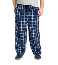 Harbor Bay® Men's Big & Tall Navy Plaid Woven Lounge Pant