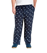 Harbor Bay® Men's Big & Tall Blue Flag Print Knit Lounge Pant