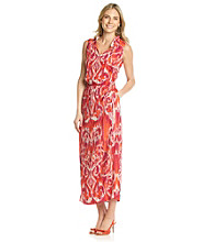 Jones New York Signature® Orange Printed Maxi Dress