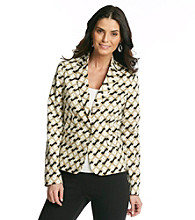 Jones New York Signature® Sand Patterned Sateen Blazer