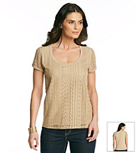 Jones New York Signature® Lace Front Tee