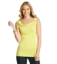 T Tahari® Wide Scoopneck Top